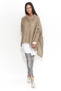 Sweter cappucino z golfem NU_S23