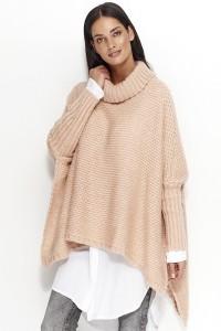 Sweter łososiowy z golfem NU_S23