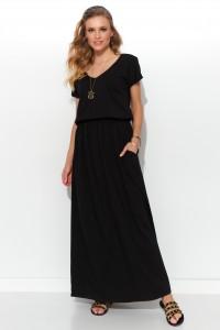Maxi czarna sukienka NU279