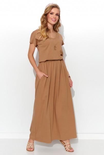 Maxi sukienka cappuccino NU279