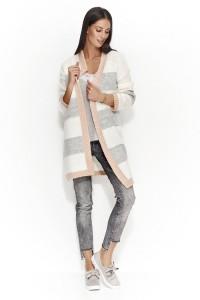 Sweter kardigan łososiowy  NU_S25