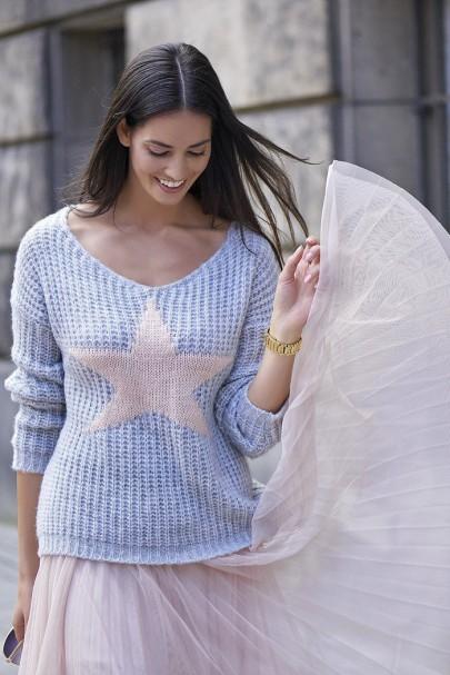 Sweter szary z gwiazdą NU_S26