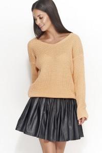 Sweter morelowy w serek NU_S27