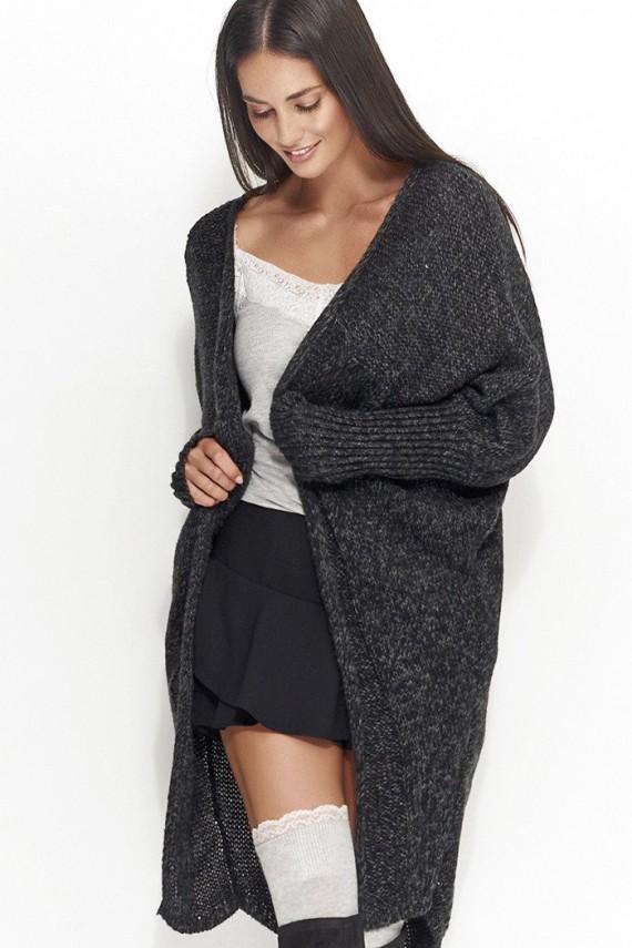 Sweter kardigan czarny  NU_S30