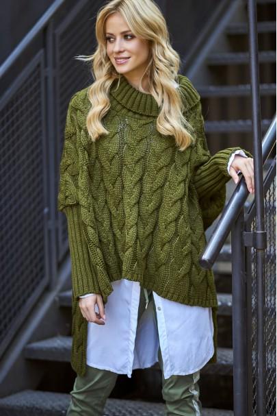 Sweter khaki oversize S71