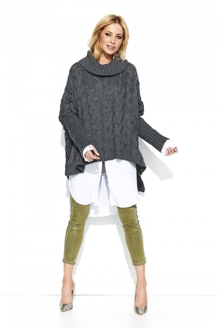 Sweter grafitowy oversize S71