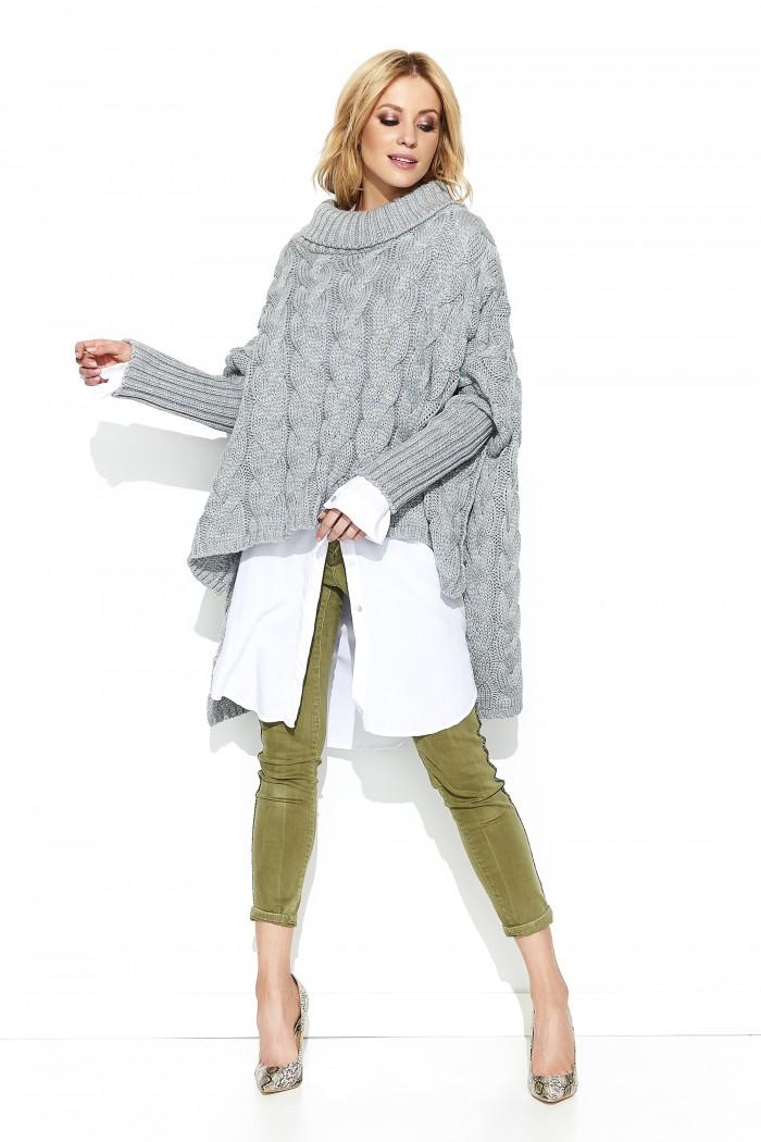 Sweter szary oversize S71