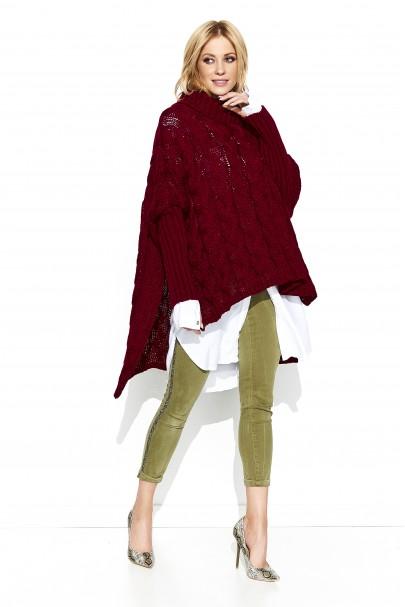 Sweter bordowy oversize S71