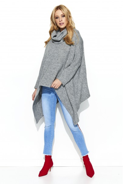 Sweter szary asymetryczny S67