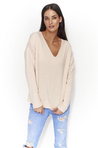 Bluza nude z dekoltem NU56