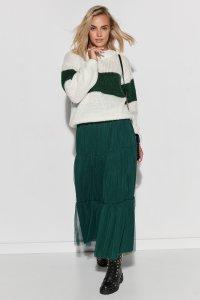 Spódnica tiulowa maxi z obszyciami zielona M567