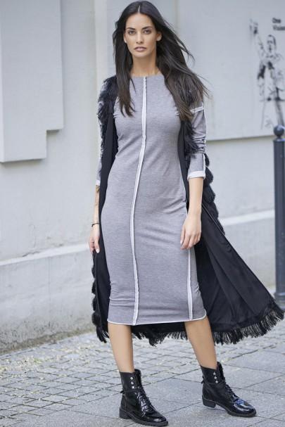 Sukienka szara z...