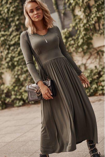 Wiskozowa sukienka maxi z...