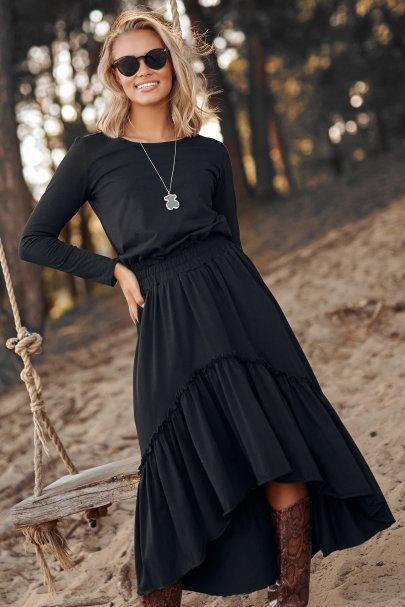 Dzianinowa sukienka maxi z...