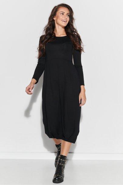 Długa sukienka wiskozowa ze...