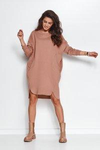 Dresowa sukienka oversize cappuccino NU270