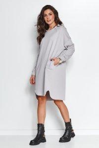 Dresowa sukienka oversize mysia NU270