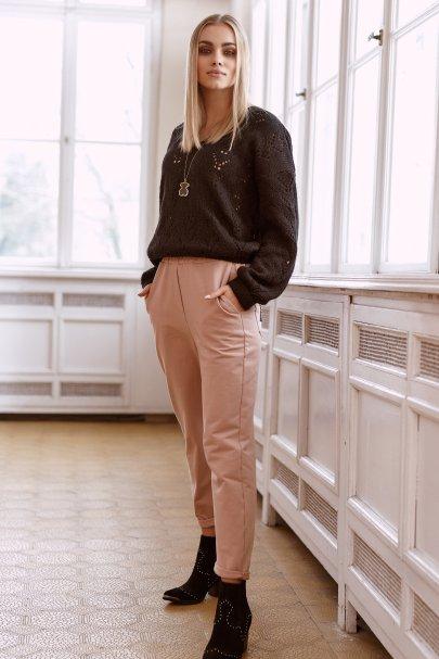 Spodnie dresowe z wysokim...