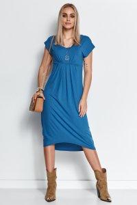Asymetryczna sukienka z wiskozy blue jeans M534