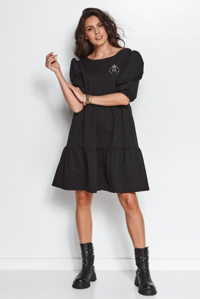 Dresowa sukienka z bufkami...
