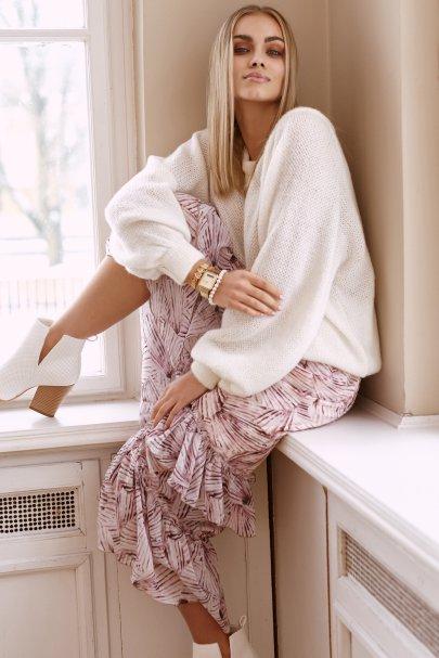 Asymetryczna spódnica midi...