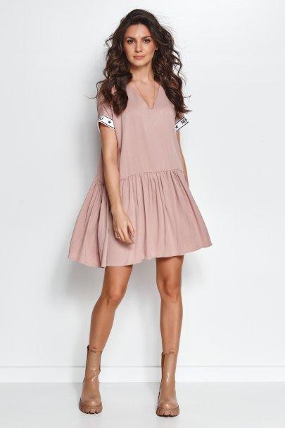 Luźna sukienka mini z...