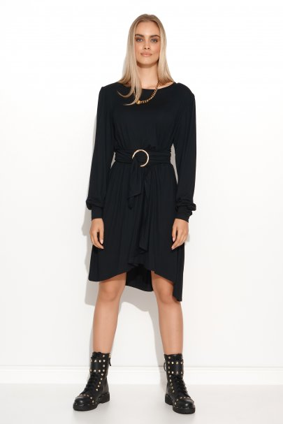 Krótka sukienka wiskozowa z...