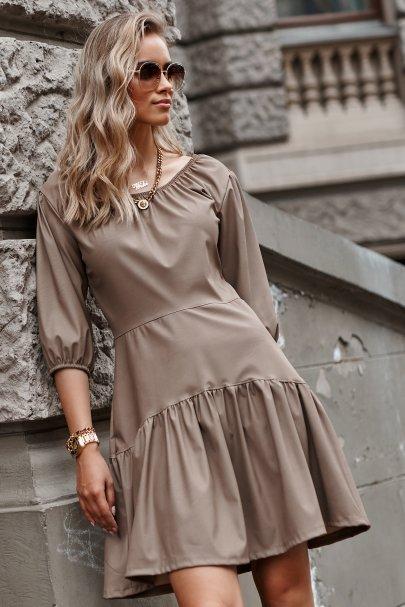 Skórzana sukienka mini z...