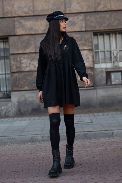 Dresowa sukienka mini z...