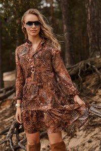 Sukienka z falbankami w kwieciste wzory w.31 M585