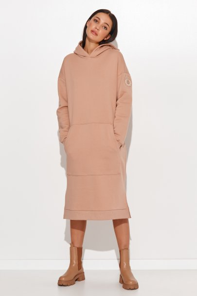 Sukienka dresowa a'la bluza...