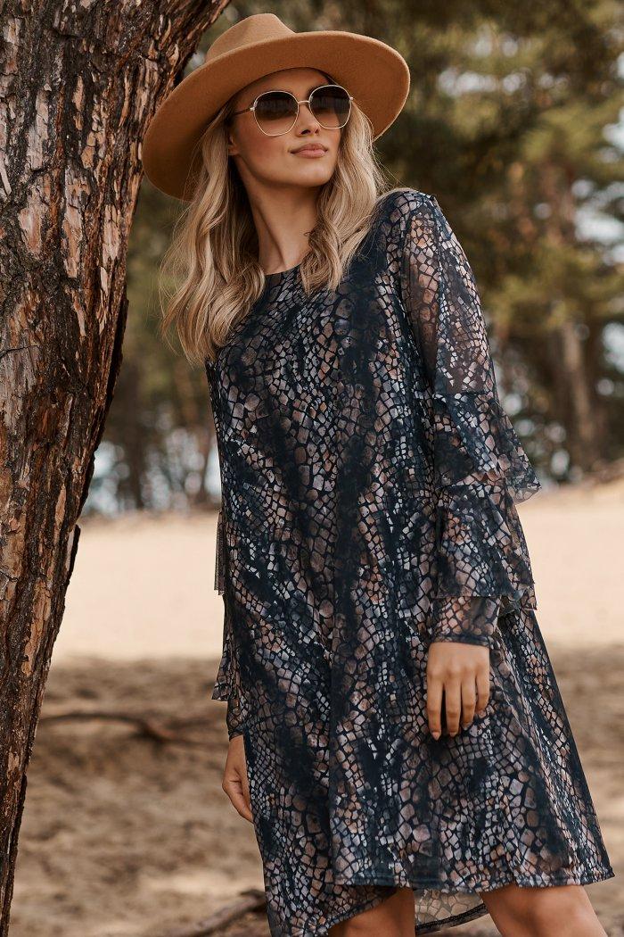 Romantyczna i zwiewna sukienka w kwieciste wzory w.29 M607