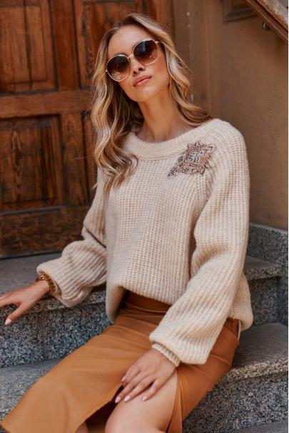 Moherowy sweter z...