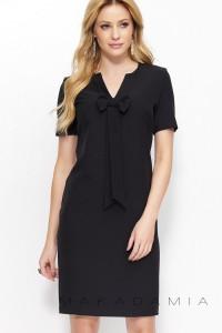 Sukienka czarna z krawatem M379