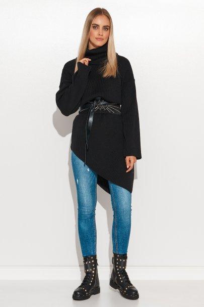 Asymetryczny sweter damski...