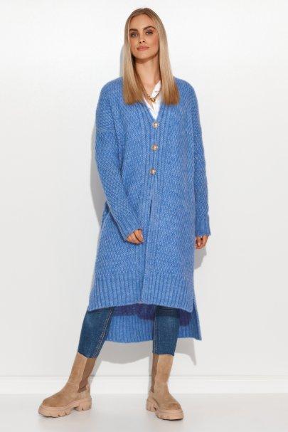 Moherowy sweter damski z...