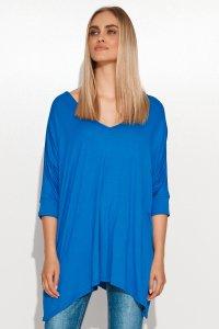 Asymetryczna bluzka damska onesize blue jeans M704