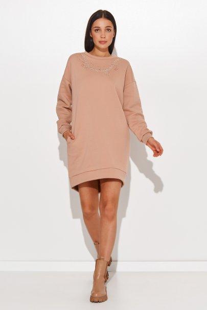 Sukienka dresowa z imitacją...