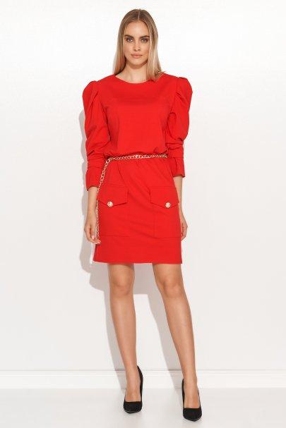 Sukienka mini z bufiastymi...