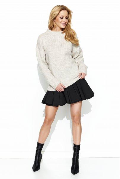 Sweter półgolf beżowy S63