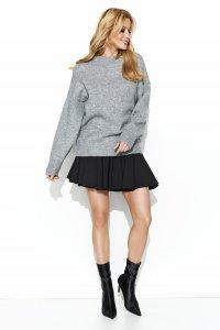 Sweter półgolf szary S63