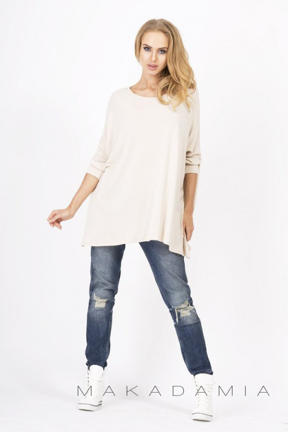 Sweter beżowy oversize M18