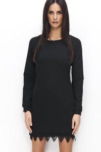 Sukienka czarna z koronką NU64