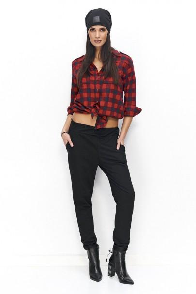Spodnie czarne dresowe NU74