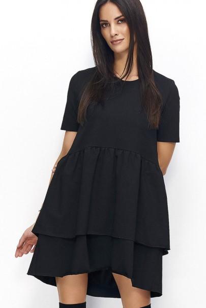Sukienka czarna poszerzana...