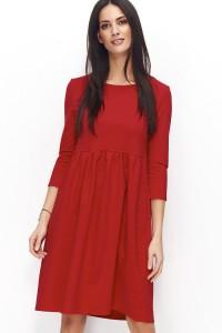 Sukienka czerwona rozkloszowana NU79