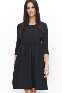 Sukienka czarna rozkloszowana NU79