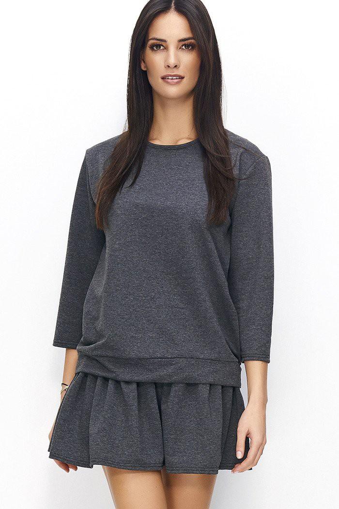 Komplet grafitowy bluza + spódnica NU62