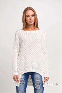 Sweter ecru luźny S22