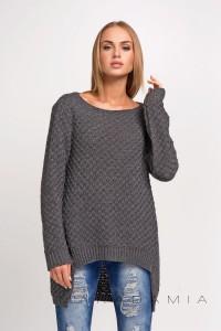 Sweter grafitowy luźny S22